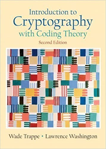 2nd Edition Introduction to Cryptography with Coding Theory