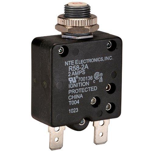 NTE Electronics R58-2A Series R58 Thermal Circuit Breaker, 250