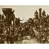 Quality digital print of a vintage photograph - East Meets West - the 'Golden Spike' ceremony, Promentory Summit, Utah May 10, 1869. Sepia Tone 11x14 inches - Matte Finish