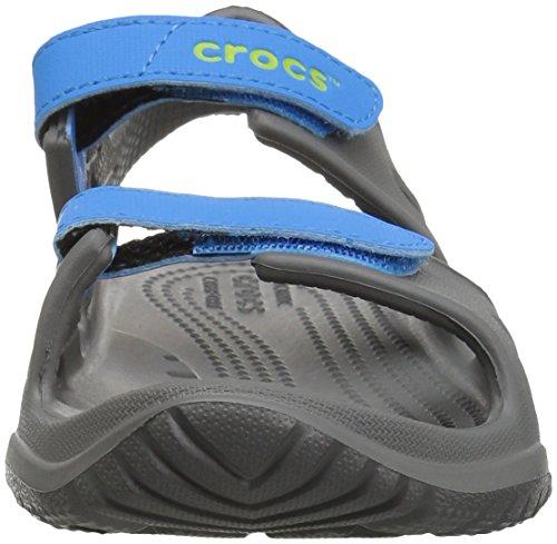 Crocs unisex-kids Swiftwater River Sandal Sandal, Slate Grey/Ocean, 2 M US Little Kid by Crocs (Image #4)
