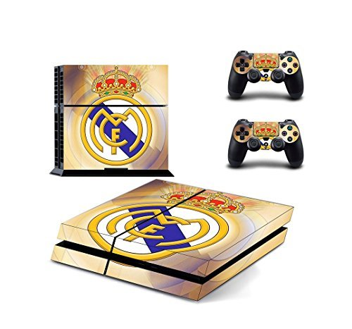 BEST DESIGN FC Real Madrid Super Team. Cristiano Ronaldo and over real football STARS PS4 Skin Sticker for Sony PlayStation 4 System (Real Madrid - Gold Team)