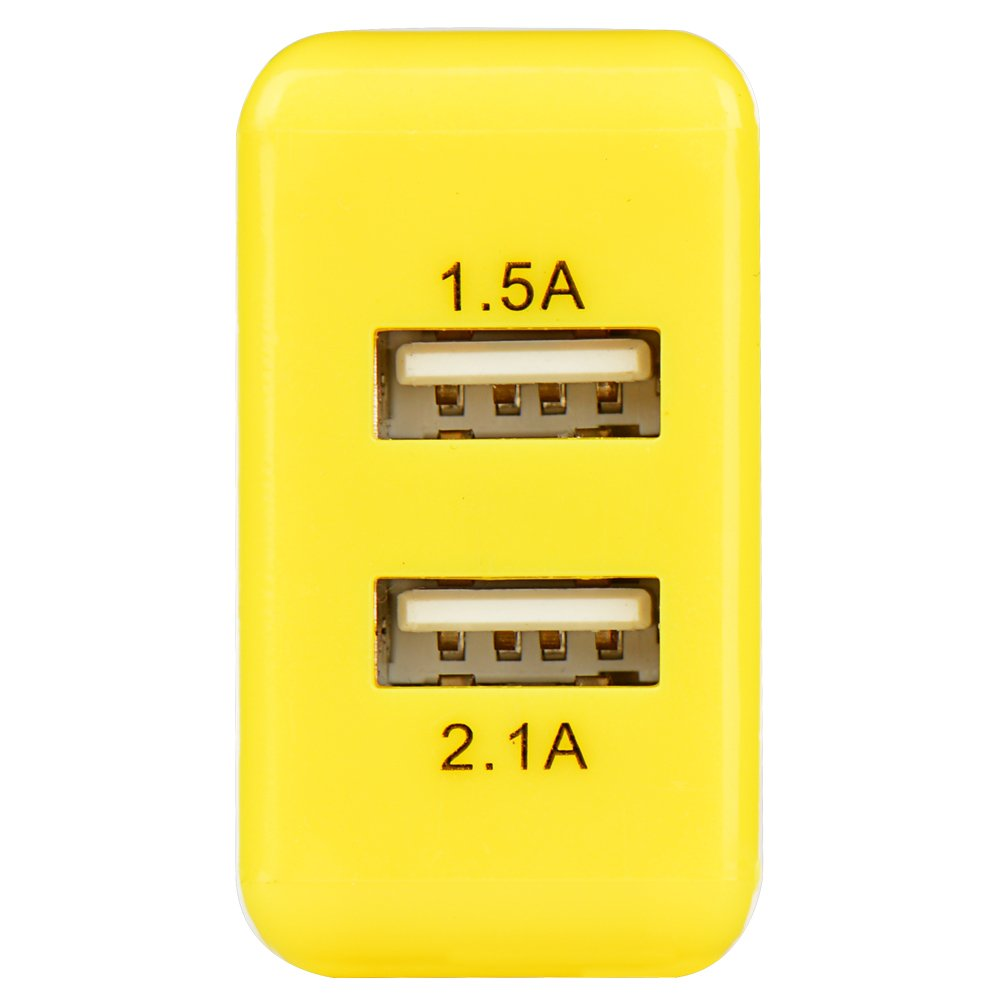Amazon.com: USB Charger,JOISEN 2-Port USB Wall Charger PowerIQ ...