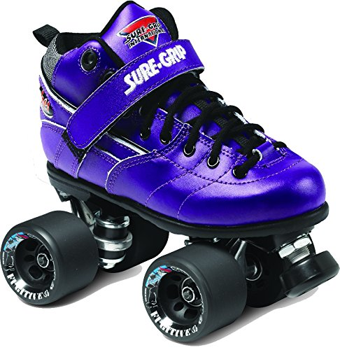 Sure-Grip Rebel Roller Skate Package - purple sz Mens 10/Ladies 11