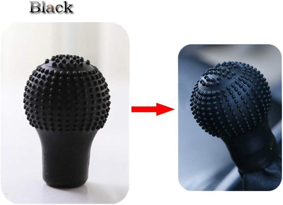 qhtongliuhewu 5 PCS Silicone Gear Knob Ball Cover,Car Universal Handbrake Grip Interior Collar Anti-Slip Random Color