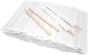 7 Inch 500 Pcs Individually Wrapped Coffee Stirrers, Paper Wrapped Coffee Stirrers, Wrapped Stir Sticks Disposable Wood Coffee Sticks for Coffee, Tea, Hot Chocolate and Craft Projects
