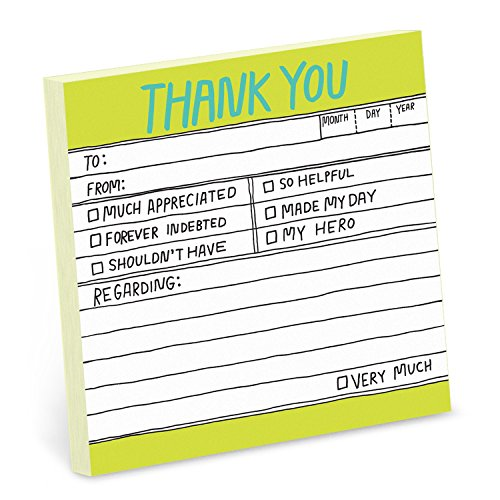 1-Count Knock Knock Thank You Hand-Lettered Sticky Notes, Thank You Notes, 3 x 3-inches each ()