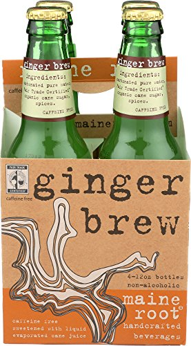 (Maine Root Ginger Brew Soda, 12 Fl Ounce, Pack of 6, 12 Fluid Ounce )