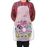 YJYdada Home Women Waterproof Cute Cartoon Kitchen Restaurant Cooking Bib Apron (B)