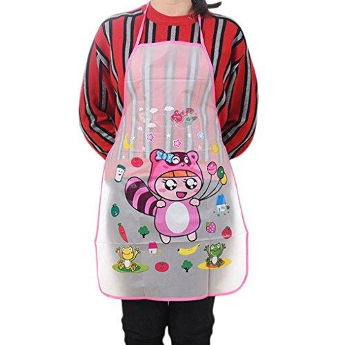 Tuxedo Dining Table Set - YJYdada Home Women Waterproof Cute Cartoon Kitchen Restaurant Cooking Bib Apron (B)