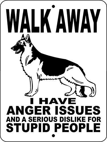 (German Shepherd Dog Guard Dog Security Gate Wags Metal Tin Sign Poster Aluminum Sign Decor for Home Bar Diner Pub)