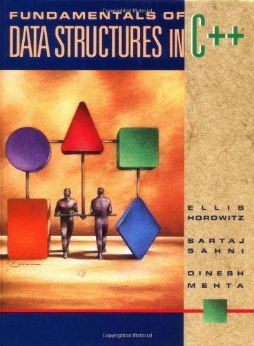 Fundamentals of Data Structures in C++ 1st edition by Horowitz, Ellis, Sahni, Sartaj, Mehta, Dinesh (1995) Gebundene Ausgabe