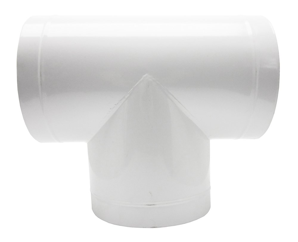 "Viagrow T Branch Ventilation Duct Adapter, 8"" X 8"" X 8"""