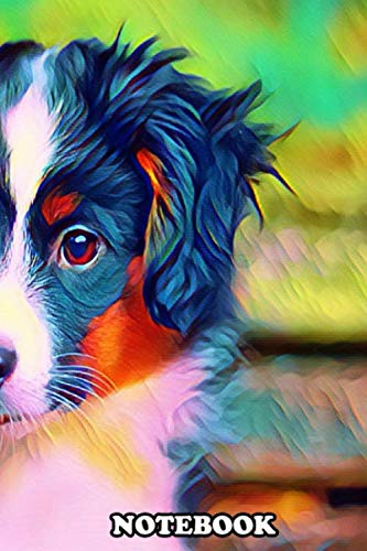 """Notebook: Mini Australian Shepherd , Journal for Writing, College Ruled Size 6"""" x 9"""", 110 Pages"""