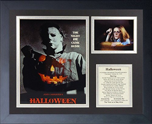 - 11x14 FRAMED 1978 HALLOWEEN CAST 8X10 PHOTO JOHN CARPENTER JAMIE LEE CURTIS