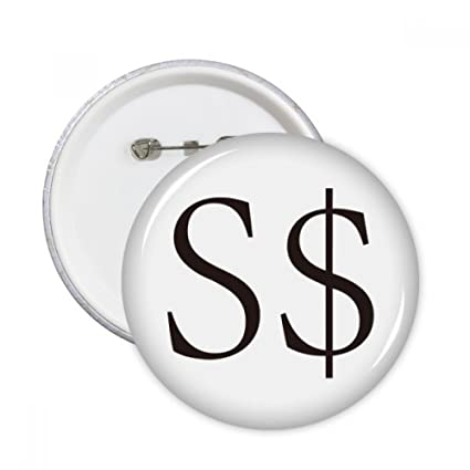 Amazon Currency Symbol Singapore Dollar Round Pins Badge Button