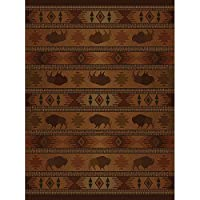 Westfield Home Ridgeland Buffalo Country Runner Rug (111 x 7 4)