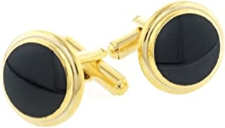 product image for JJ Weston Classic Black Enamel Cufflinks. Made in The USA.