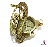 NM034809A Brass Sundial Compass 3.5'' - Case Pack of 16