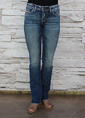 - Silver Jeans Co. Women's Suki Curvy Fit Mid Rise Slim Bootcut Jeans,Medium Vintage,32X33