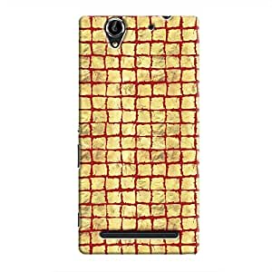 Cover It Up - Gold Red Break Mosaic Xperia C3 Hard Case