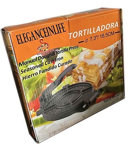 Eleganceinlife Cast Iron Tortilla Press 7.3'' Cast Iron Flour Corn Tortilla Press Maker Tortilla Press Heavy Cast Iron by Eleganceinlife (Image #1)