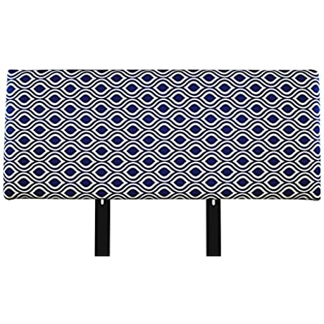 MJL Furniture Designs Alice Padded Bedroom Headboard Contemporary Styled Bedroom D Cor Nicole Series Headboard Indigo Finish Eastern King Sized USA Made