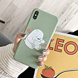 Cute Cartoon We Bare Bears Korean Phone Case for iPhone 6 6S 7 8 Plus X Xs XR XS Max Cases Silicone Soft Cover (2, for iPhone Xs Max)