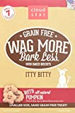 Cloud Star Wag More Oven Baked Grain Free Biscuits – 7 Ounce Itty Bitty, Pumpkin