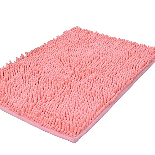 Shag-Style Bath Rug Non-slip Chenille Bathroom Shower Mats Absorbent Shaggy Rugs,15.7'x 23.6'