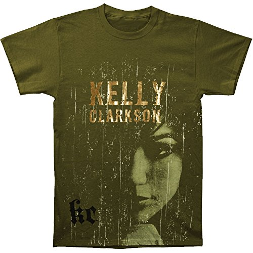 - Kelly Clarkson Men's Scratches Slim Fit T-shirt Small Black