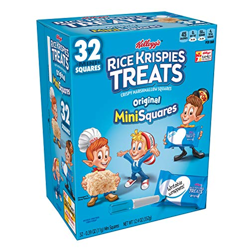 Rice Krispies Original, Mini-Squares Crispy Marshmallow Squares, 12.4 Ounce(Pack of 6) ()
