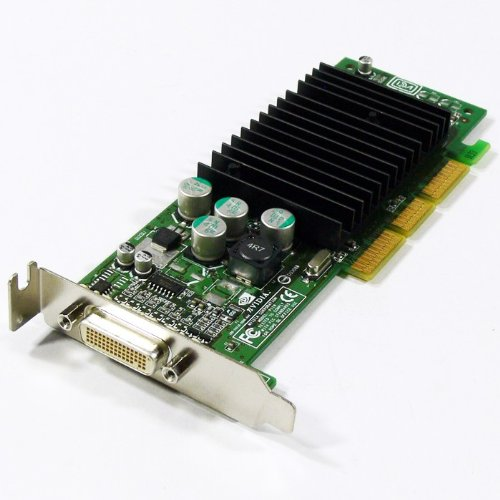 Low Profile Agp Card - Dell Nvidia GeForce5 FX5200 128MB Windows 7 Dual DVI Low Profile SFF AGP Video Graphics Card