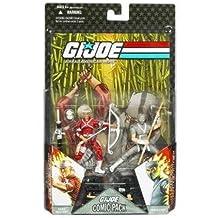 "G.I. JOE Hasbro 25th Anniversary 3 3/4"" Wave 6 Action Figures Comic Book 2-Pack Snake Eyes and Hard Master"
