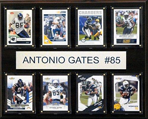 NFL San Diego Chargers Antonio Gates 8-Card Plaque, 12 x 15-Inch