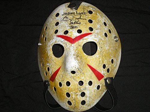 CJ GRAHAM Signed Hockey Mask Jason Voorhees Friday the 13th Part 6