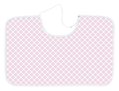 Kushies Reversible Crib Blanket, Pink Lattice