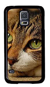 Samsung Galaxy S5 Cases & Covers - Green Cats Eye PC Custom Soft Case Cover Protector for Samsung Galaxy S5 - Black