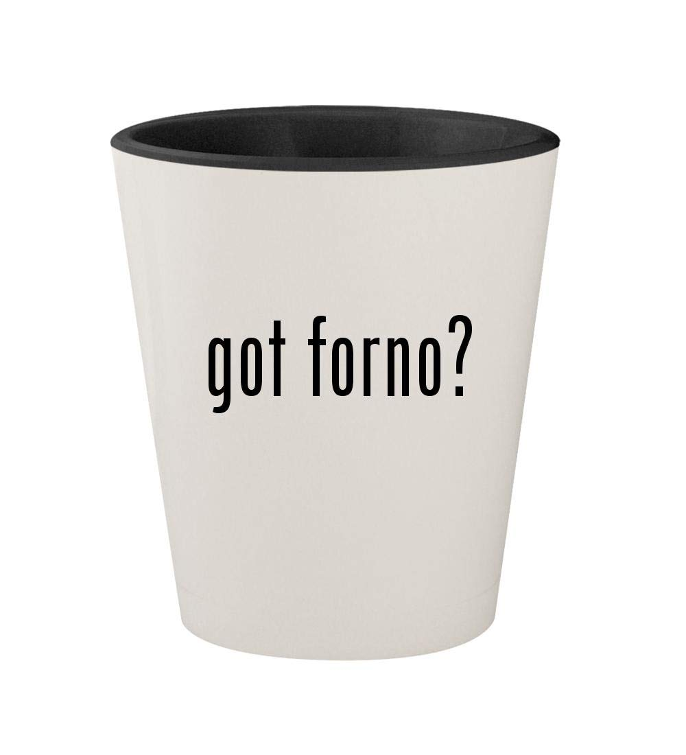 got forno? - Ceramic White Outer & Black Inner 1.5oz Shot Glass