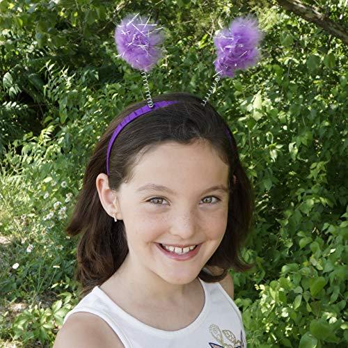 Feather Antenna Costume Headband Accessory - Dark Lilac Halloween/Cosplay/Dress-Up