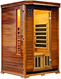2 Person Vital Elite Sauna Red Cedar Wood - FAR Infrared Low EMF Heaters - Embedded Magnetic Flux Therapy