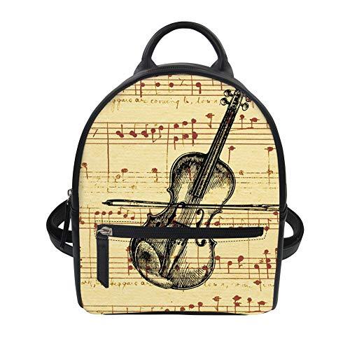 Portable Mesdames Dos SHUANGJIAN Femme Dos Instrument Série Modèle À Sac À Femme Sac De Sac À T1211Z4 Dos Musique Sac À Portable Main PU 8qITwxq4n