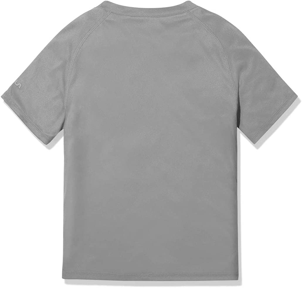 TSLA Boys Girls Kids Swimsuit Top Short Sleeve Rash Guard Swim Shirt UPF 50+