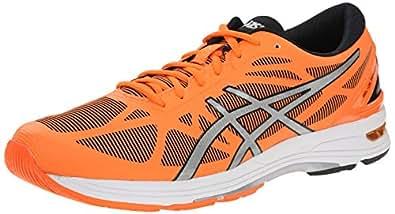 ASICS Men's Gel DS Trainer 20 Running Shoe, Flash Orange/Silver/Black, 6 M US
