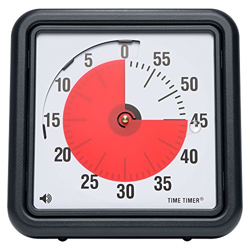 Time Timer Original 8 inch; 60 Minute Visual Timer – Classroom Or Meeting Countdown Clock for Kids and Adults (Ss Analog Watch)
