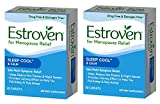 Estroven SLEEP COOL + CALM formulated for Menopause Symptom Relief - Helps Reduce Hot Flashes and Night Sweats - Provides Calming Effect to Help You Fall Sleep and Stay Asleep, 2 Pack