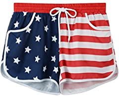 For G and PL Women Summer Floral Print Beach Shorts Women's Floral Beach Boardshorts Made by For G and PL. Cute and Sweet Style, Get an Eyecatching Look! SIZE GUIDELINE  S US(4-6) Waist: 26-28 Inches, Hip: 40-42 Inches, Length: 12.0 Inches.  ...