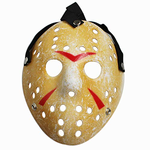 Friday NO.13 Jason Voorhees Freddy Hockey 100g Halloween Mask (Yellow) -
