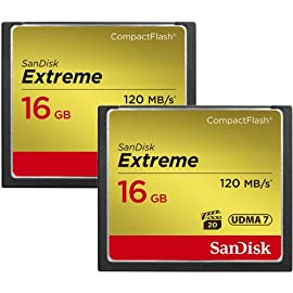SanDisk 16GB Extreme CF Card 2-Pack (SDCFXS2-016G-X46) 1 SanDisk Extreme CF 2-Pack 16GB 120MB/s SDCFXS2-016G-X46