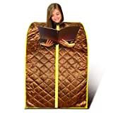 New EMF Safe Cell Spa Portable Foldable Far FIR Infrared Large Sauna Spa, Detox with Negative Ion and Foot Roller