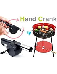 Take Barbecue Supplies BBQ Tool Barbecue Grill Cranked Outdoor Picnic Hand Fan Starter Blower compare